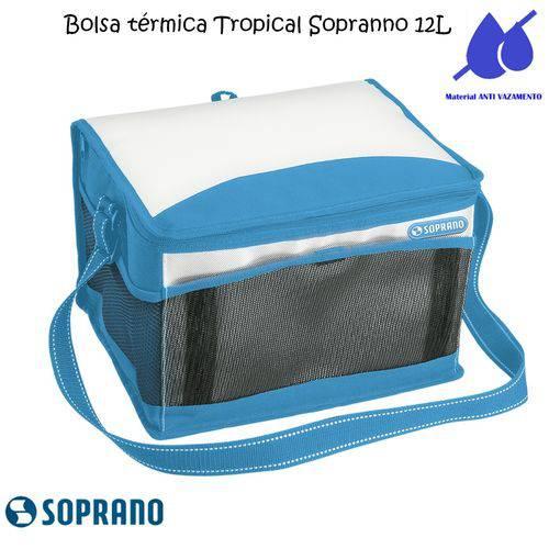 Bolsa Térmica Tropical 12 Litros Soprano Azul