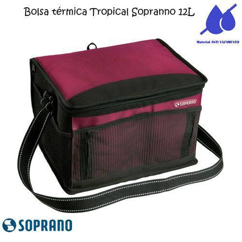 Bolsa Térmica Tropical 12 Litros Soprano Vermelha