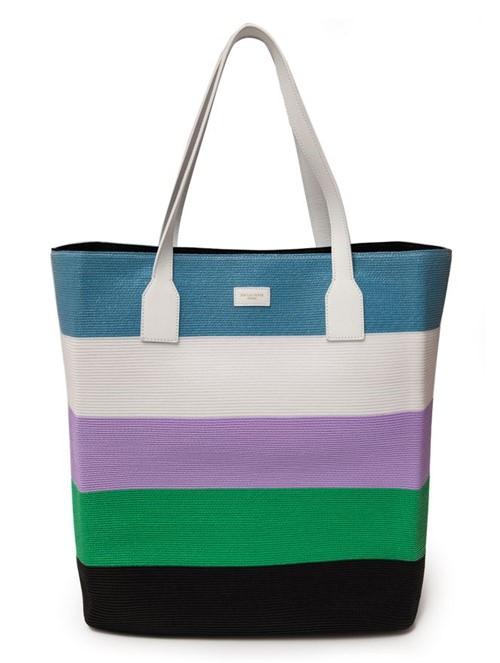 Bolsa Tote Bag Listrada Azul