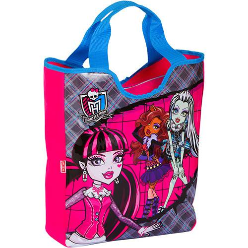 Bolsa Tote Monster High Xadrez e Rosa - Sestini