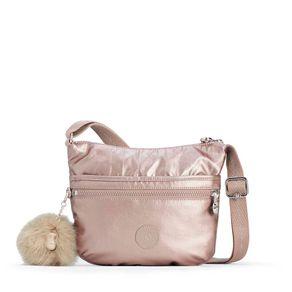 Bolsa Transversal Arto S Rosa Metallic Blush Kipling
