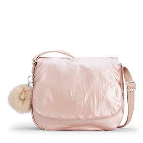 Bolsa Transversal Earthbeat M Rosa Metallic Blush Kipling