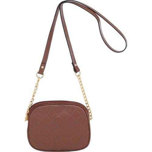 Bolsa Transversal Smartbag Couro Castor - 78008.15