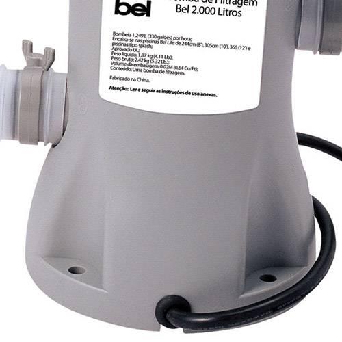 Bomba de Filtragem Bel Fix 1250L/Hr de 220V