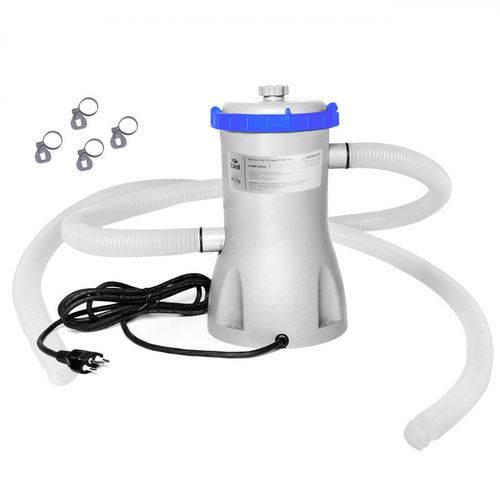 Bomba Filtrante Filtro para Piscina 2000 L/h 220v com Refil e Mangueira Bel