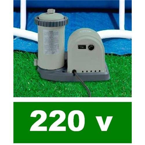 Bomba Filtrante Piscina Intex 5678 Lh 220v 28636 + Par de Adaptadores B