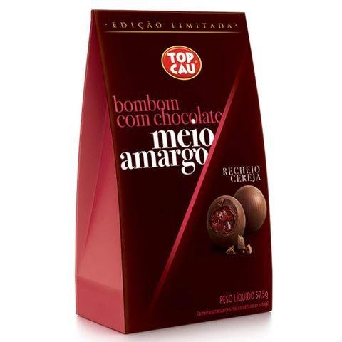 Bombom Meio Amargo Cereja ao Licor 57,5g - Top Cau