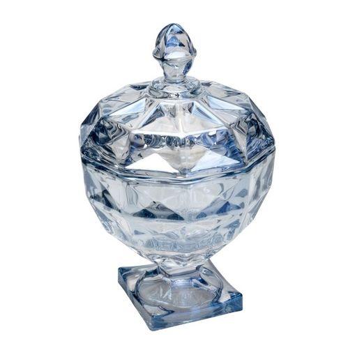 Bomboniere de Cristal Azul 14cm Diamant Wolff
