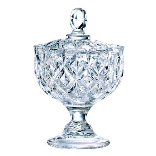 Bomboniere em Cristal com Pe 14,2cm