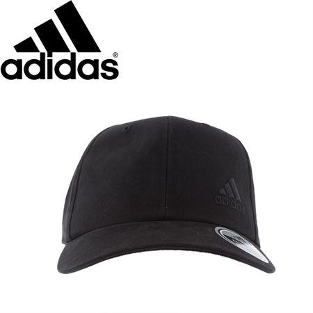 Boné Adidas Six-Panel Aba Curva Preto -