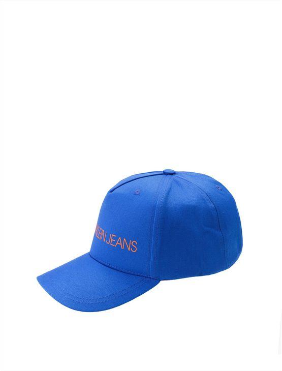 Bone Ckj Masc Lona Basico Logo - Azul Médio - U