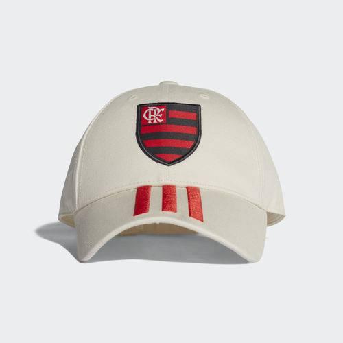 Boné Flamengo Adidas 3S Branco 2018 2019 Aba Curva CY5540