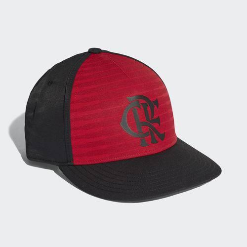 Boné Flamengo Adidas S16 CW Preto e Vermelho 2018 2019 CY5544