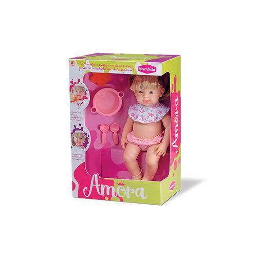 Boneca Amora Macha e Sai 43 Cm Bambola Bebê Papinha