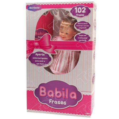 Boneca Babila 102 Frases Loira - Bambola