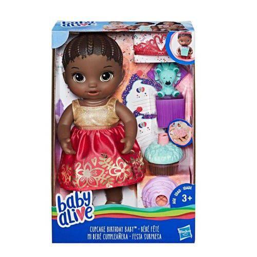 Boneca Baby Alive Festa Surpresa Negra - E0292 - Hasbro