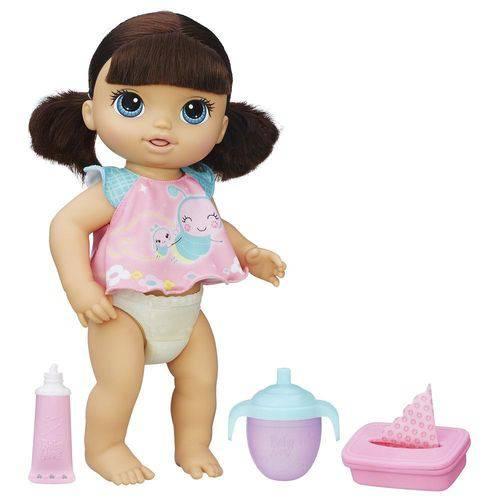 Boneca Baby Alive Fralda Mágica Morena