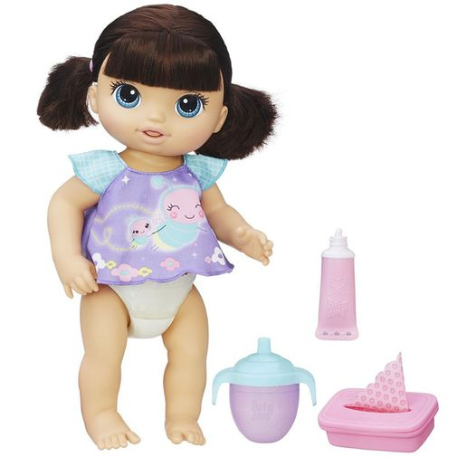 Boneca Baby Alive - Fraldinha Mágica Morena - Hasbro