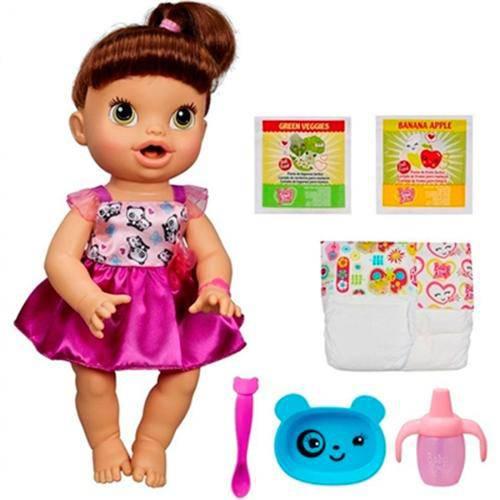 Boneca Baby Alive Hora de Comer Morena - Hasbro