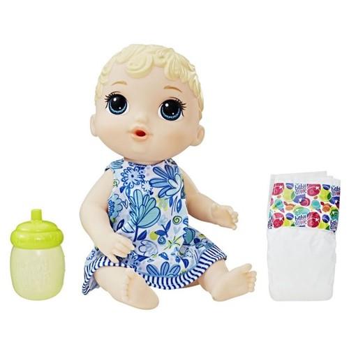 Boneca Baby Alive Hora do Xixi Loira E0385 Hasbro Azul