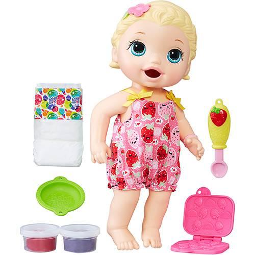 Boneca Baby Alive Lanchinho Loira C2697 - Hasbro
