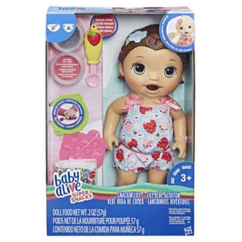 Boneca Baby Alive Lanchinho Morena Hasbro - C2698