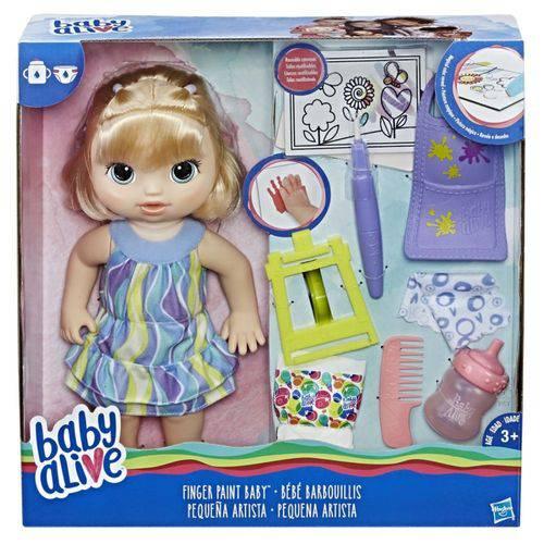 Boneca Baby Alive Pequena Artista Loira C0960 - Hasbro
