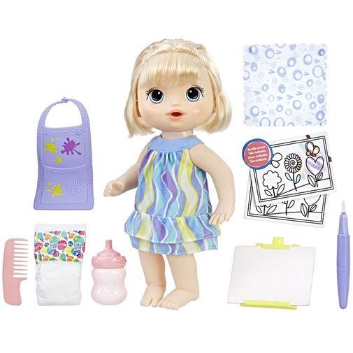 Boneca Baby Alive - Pequena Artista Loira - Hasbro