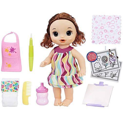 Boneca Baby Alive - Pequena Artista Morena - Hasbro