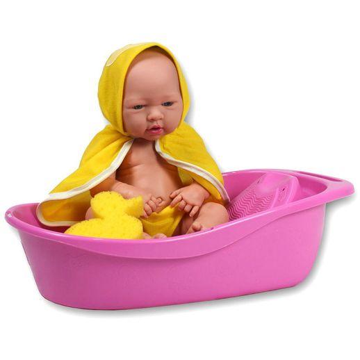 Boneca Baby Ninos Banho com Roupão e Banheira - Cotiplás