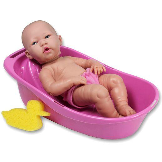 Boneca Baby Ninos Banho com Roupão Rosa e Banheira - Cotiplás