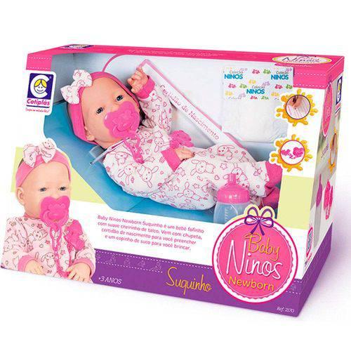 Boneca Baby Ninos Newborn Suquinho Cotiplás