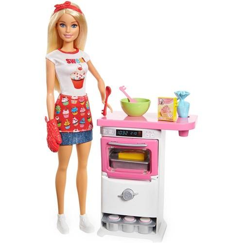 Boneca Barbie - Cozinhando e Criando - Chefe de Bolinhos