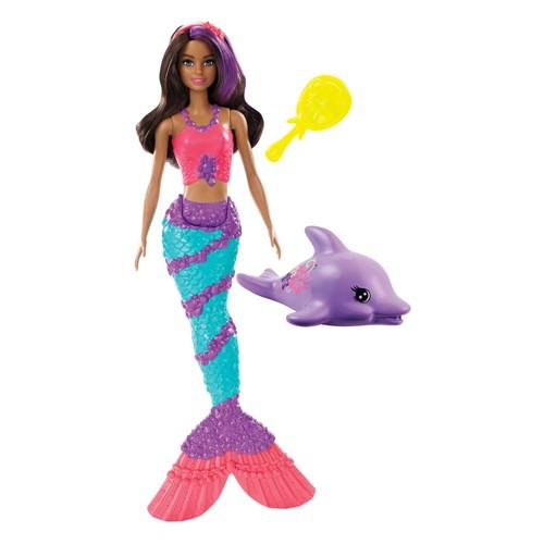 Boneca Barbie Explorar e Descobrir Sereia Teresa Muda de Cor