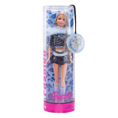 Boneca Barbie Fashion Fever Plumas Azuis - Mattel