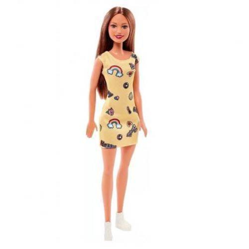 Boneca Barbie Fashion Vestido Amarelo - Mattel