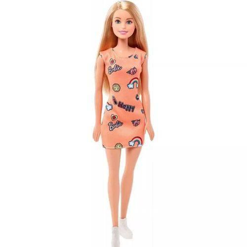 Boneca Barbie Fashion Vestido Laranja - Mattel