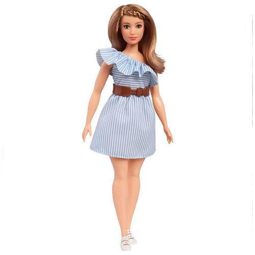 Boneca Barbie Fashionista - Vestido Azul - Mattel