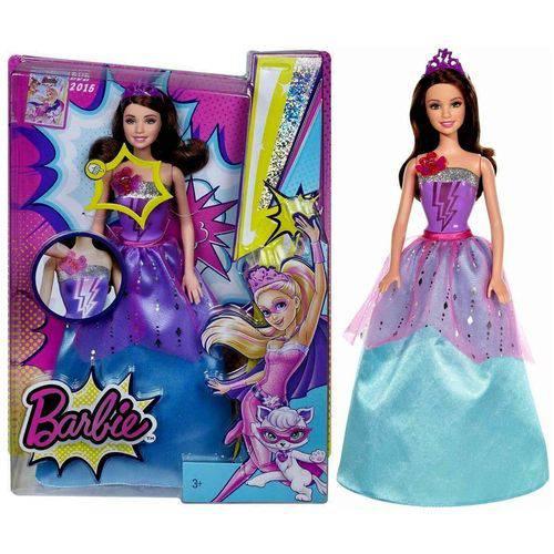 Boneca Barbie Morena Super Amiga com Luz e Som - Mattel