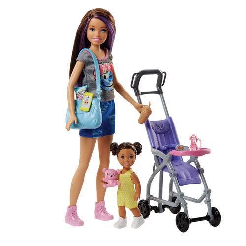 Boneca Barbie - Skipper Babysister - Carrinho de Bebê - Mattel
