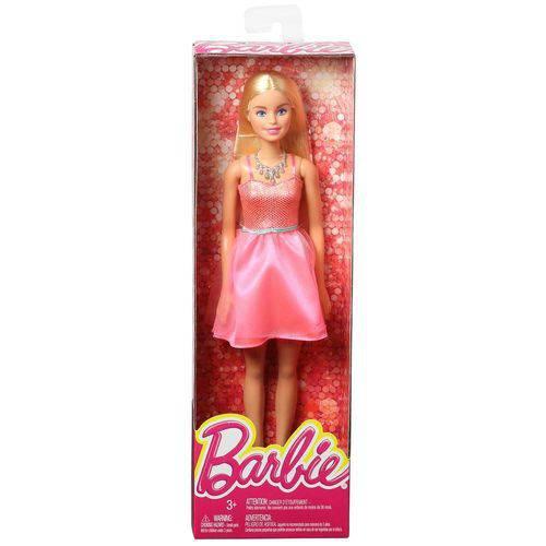 Boneca Barbie Vestido Rosa Mattel - T7580/Drn76