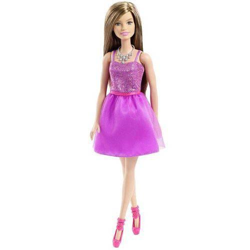 Boneca Barbie Vestido Roxo - Mattel T7580