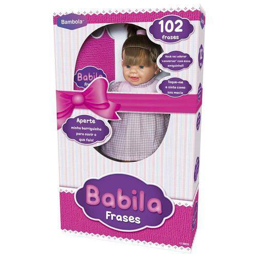 Boneca Bebê Babila 102 Frases Cabelo Castanho 406 Bambola