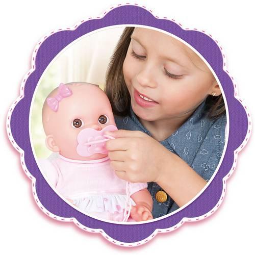 Boneca Bebê Feliz de Alimentar com Mamadeira 2015 Cotiplás