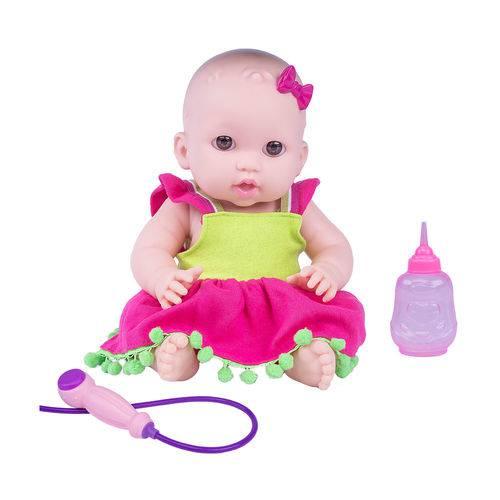 Boneca Bebê Feliz - Duchinha - Vestido Melancia - Cotiplás
