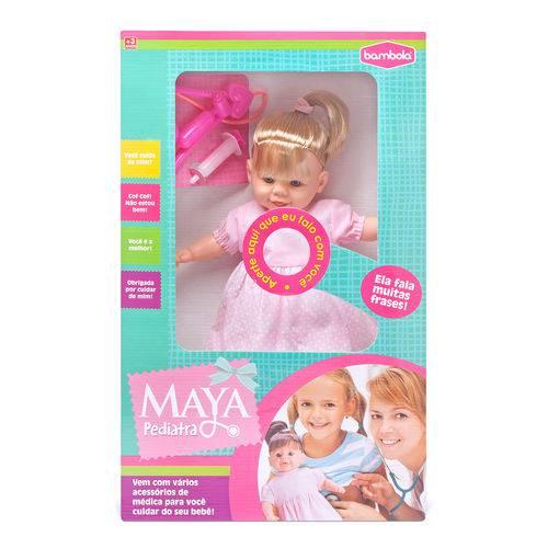 Boneca Bebê Maya Pediatra Frases 43 Cm Bambola