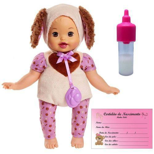 Boneca Bebê Menina Little Mommy Fantasia Fofinha Pet de Cachorrinha Cachorro Dog - Acompanha Mamadeira Mágica e Certidão de Nacimento - Mattel