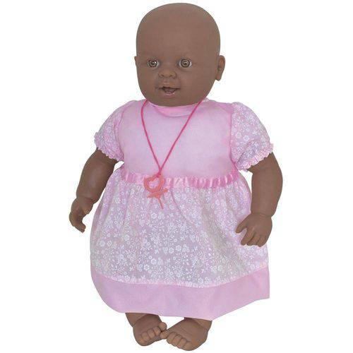 Boneca Bebê Negra com Chupeta 504 Bambola
