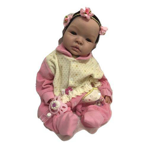Boneca Bebê Reborn Lauren Molde Autentico