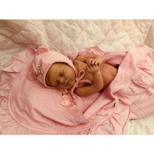 Boneca Bebe Reborn Mariah com Corpo Inteiro Siliconado